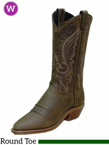 Women's Abilene Olive Brown Oiled Cowhide Western Boots 9036