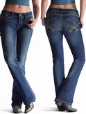 NO LONGER AVAILABLE Women's Caliente Turquoise Stretch Jeans by Ariat 8404