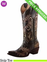 Women's Circle G by Corral Distressed Green Beige Filigree Boots L5133 CLEARANCE