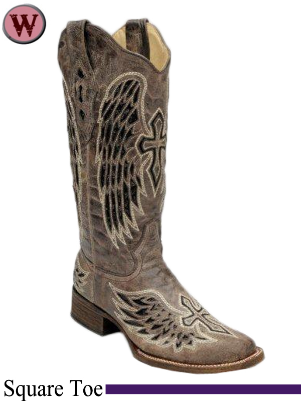 s corral brown black wing cross sequence boots a1197