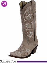 Women's Corral Bone Floral Full Stitch Boots G1086