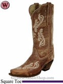 Women's Corral Honey Cortez Cleff Embroidery Boots R1974