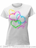 NO LONGER AVAILABLE Women's Country Girl Hearts Top Junior Fit