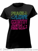 NO LONGER AVAILABLE Women's Country Girl Peace Love Shirt