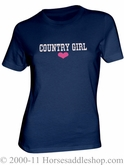 NO LONGER AVAILABLE Women's Country Girl Pink Heart Top