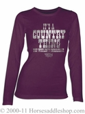 NO LONGER AVAILABLE Women's Country Girl - silver foil country thing top