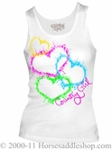 NO LONGER AVAILABLE Women's Country Girl Splatter Hearts Top