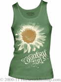 NO LONGER AVAILABLE Women's Country Girl Sunflower Tee Metalic Gold