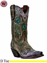 Dan Post Women's Blue Arrow Boots DP3459