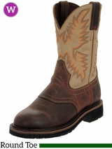Women's Justin Stampede Collection Cowgirl Workboots Brown Waxy 4660
