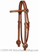 XP Hearts & Dots Headstall by Circle Y y0168-3104