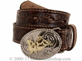 Youth Brown Belt with Buckle by Nocona Belt Co. 4410402