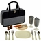 Travel Picnic Set for Two - Houndstooth Design