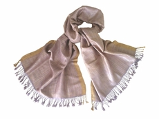 Avani Wild Silk Shawl in Frosted Pink & Lavender