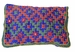 Barmer Embroidered Cosmetic Bag - Blue & Orange