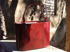 Tilonia� by Raasta Leather Tote Bag