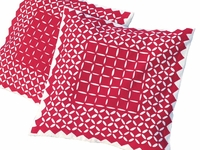 Barmer Applique Pillow - Geometric Red