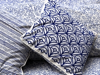 Tilonia® Home: Decorative Pillow Cover in Mod Mum in Blueberry