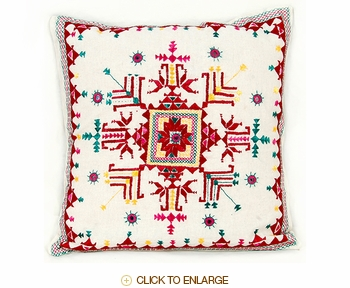 Tilonia® Home: Embroidered Pillow - Balang Red