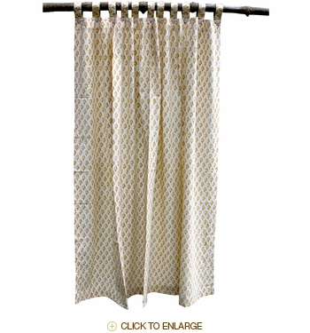Tilonia® Shower Curtain - Sprig in Mustard Yellow
