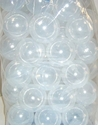 500 Crush Proof PE Commercial Ball Pit Balls  - CLEAR