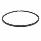 3 mm Black Titanium Cable Necklace