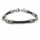 "4mm Black Titanium Cable ""Rosenberg"" Bracelet"