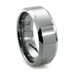 ARMOUR Faceted Tungsten Ring by Jewelry Innovations