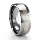 "ARTCARVED ""Jordan"" Wide Tungsten Ring with Sterling Silver"