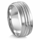 "ARTCARVED   Palladium Wedding Band - ""DANBURY"""