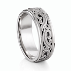 "ARTCARVED ®  Palladium Wedding Band - ""ARDENT"""
