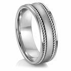 "ARTCARVED ®  Palladium Wedding Band - ""LUXOR"""