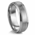 "ARTCARVED  ® Palladium Wedding Band - ""TURIN"""