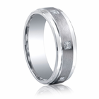 BENCHMARK Argentium Silver and Six Diamond Wedding Band