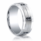 BENCHMARK Argentium Sterling Silver and Black Diamond Ring