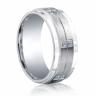 BENCHMARK Argentium Sterling Silver and Diamond Ring