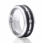 BENCHMARK Cobalt &  Diamond Ring with Graphite