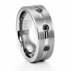 BENCHMARK Forge Tungsten and Black Diamond Ring