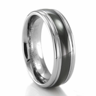 BENCHMARK Gable Tungsten & Seranite Ring
