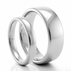 BENCHMARK His and Hers Palladium Wedding Band Set