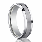 Polished Edges Palladium Wedding Band by Benchmark