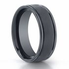 BENCHMARK Seranite Black Ceramic Ring - 8mm