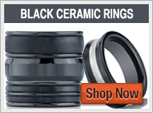 Benchmark Seranite Black Ceramic Rings