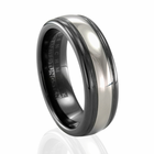 BENCHMARK Tungsten & Black Seranite Ring Braden