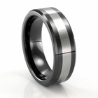 BENCHMARK Tungsten & Seranite Flat Band  Gregory