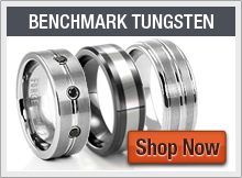 Benchmark Tungsten Wedding Bands