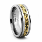 BENGAL Tungsten and Mokume Gane Ring by Jewelry Innovations