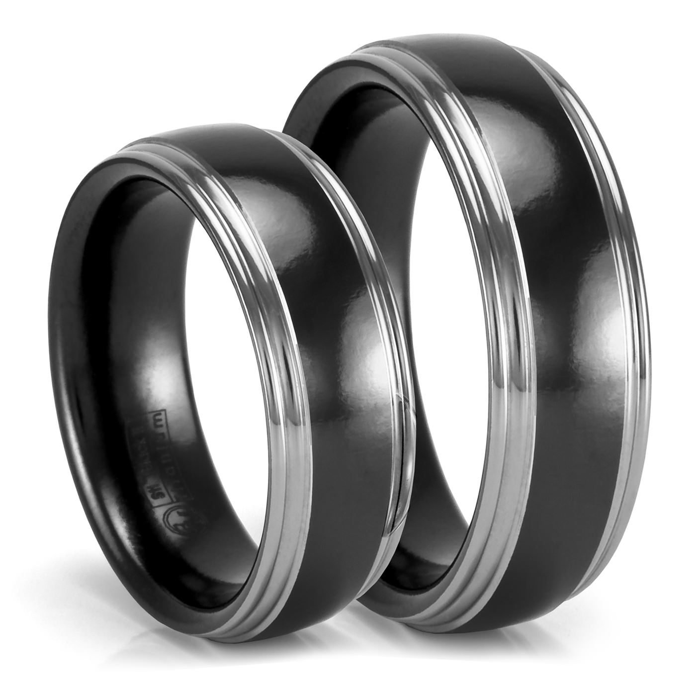 Black Wedding Rings His And Hers synrgyus
