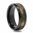 Black Ceramic Camouflage Ring Commando by Heavy Stone Rings
