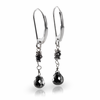 Black Diamond Drop Earrings by Belloria